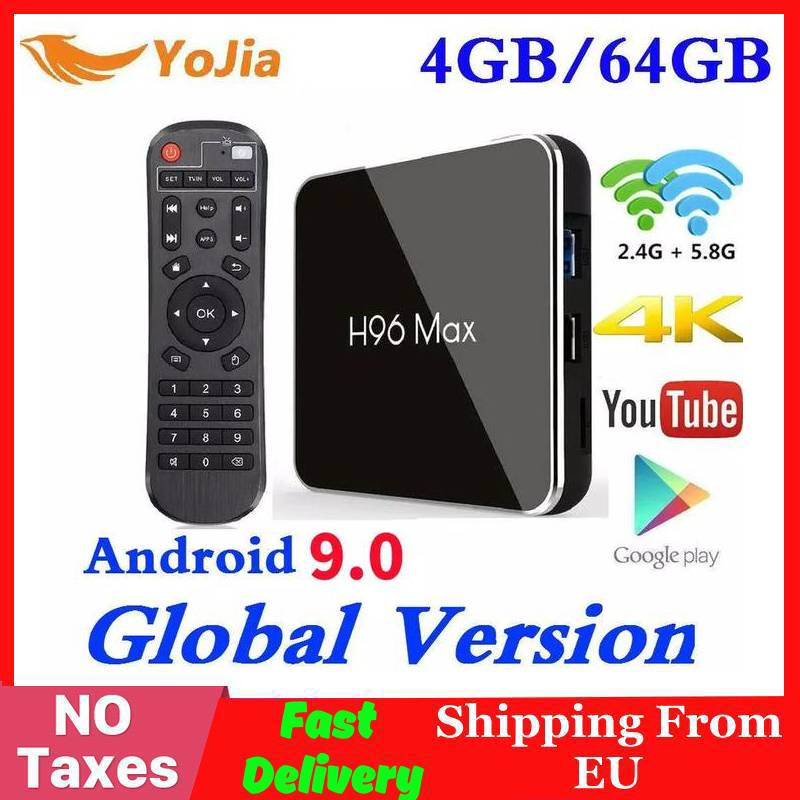 4GB RAM 64GB Rom Android 9.0 TV BOX H96 MAX X2 Amlogic S905X2 Smart 4K Media Player 2.4G&5G Wifi H96MAX Set Top Box 2G16G/ 1G/8G