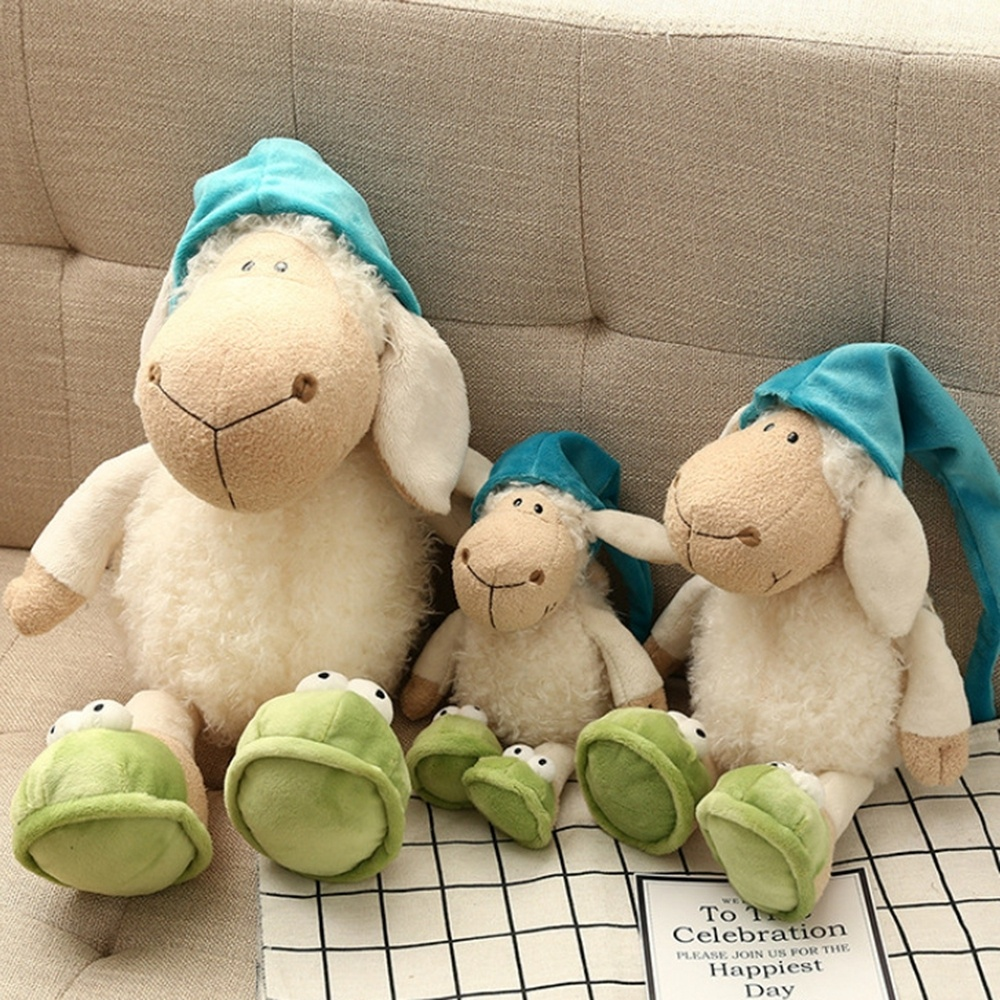 Baby Toy Lamb Dolls & Accessories Stuffed Animals & Plush Sleep Cushion Baby & Kid Action & Toy Figures Sheep Kid Classic Toys
