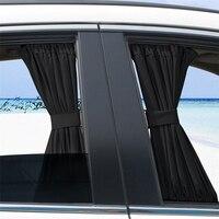 Cortinas Da Janela Do Carro kit de Acessórios Capa de privacidade Escudo Plástico Trilhos 50*47 centímetros Proteção UV