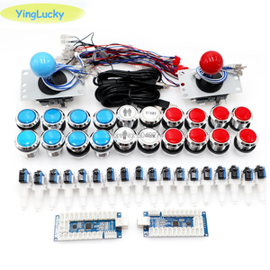 yinglucky diy arcade kit battop LED buttons + fighting joystick to PC Raspberry Pi ps3 Xbox game arcade cabinet