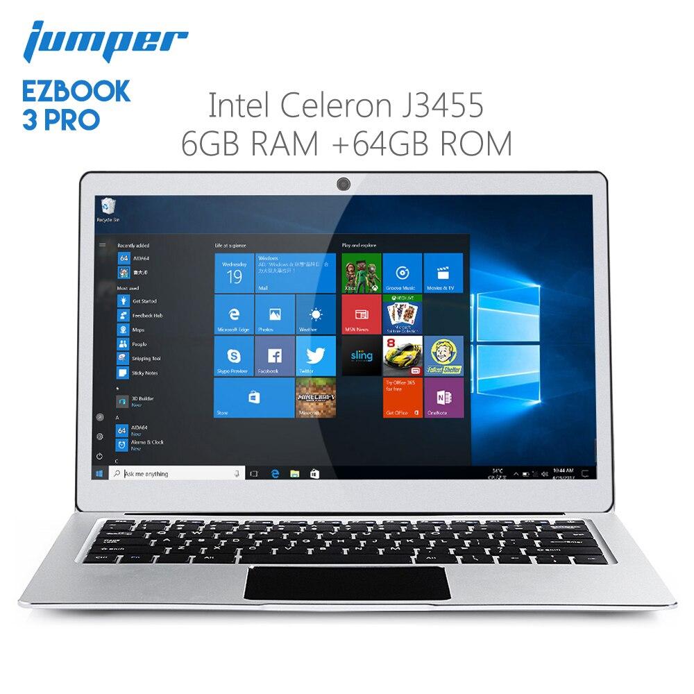 Original Jumper EZBOOK 3 PRO 13.3 Inch Notebook Windows 10 Intel Celeron J3455 6GB RAM 64GB Laptop EMMC HDMI Dual WiFi
