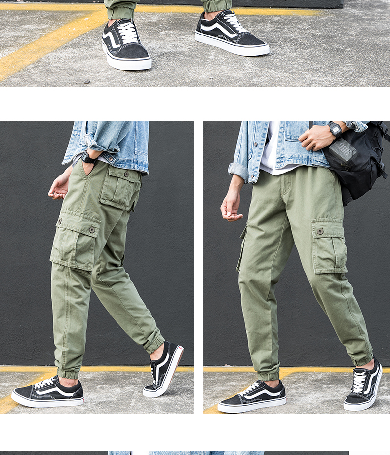 KSTUN Cargo Pants Men Summer Thin Male Overalls Loose fit Trousers casual pants joggers men's clothing brand soft 100% cotton 16