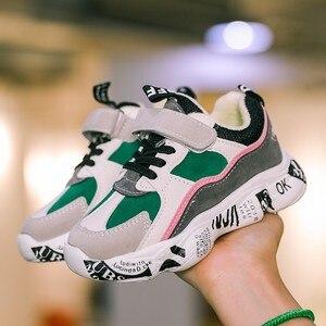 Image 4 - 2019 invierno niños deportes Zapatos Niños Casual Patchwork Zapatillas moda Otoño Graffiti niñas botas de estudiante antideslizante