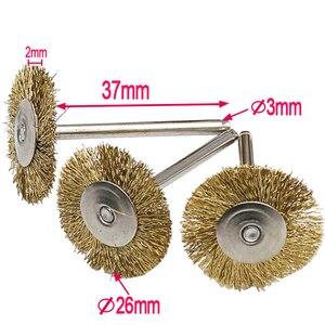 Image 3 - Meuleuse à métaux, brosses à fils en laiton, brosses à fils, outil électrique rotatif pour graveur, 9 pièces/lot