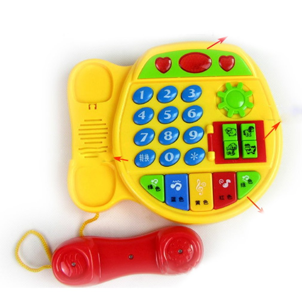 Cartoon Buttons Phone Educational Intelligence Developmental Toy Children's Gift Learning Toy Interactive Toy
