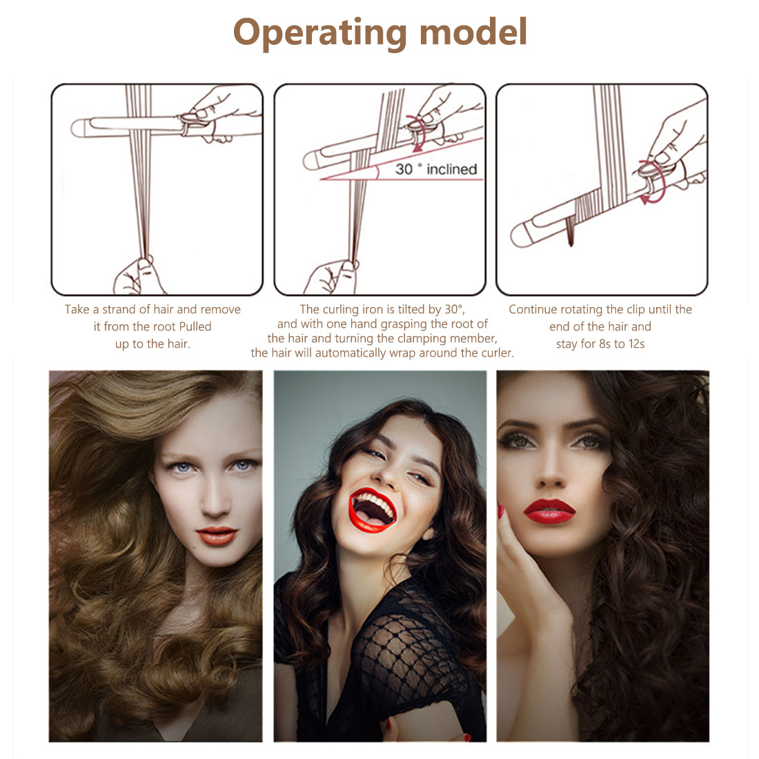 modelador cabelo eletrico ceramica curling ferro 04