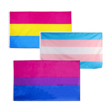 Large Pride Flag Banner Rainbow Tansgender 3x5ft Polyester Durability Pansexual Gay Bisexual LQBTQ Rectangle Light Weight