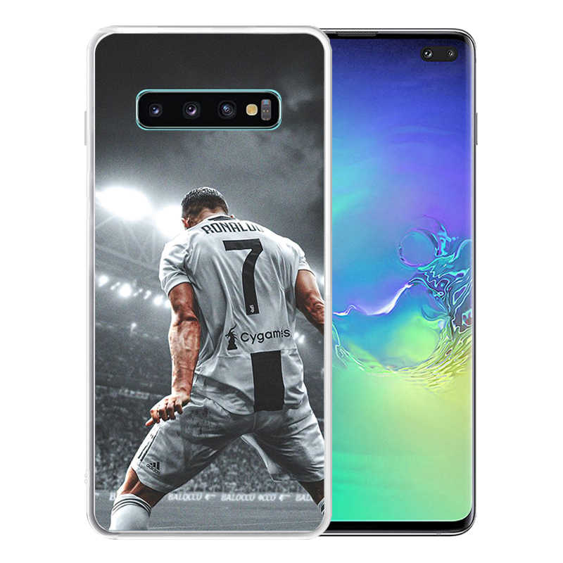 Soft Silicone Clear TPU Case for Samsung Galaxy S11 S10 Plus S10E S9 S8 S6 S7 Edge Durable CR7 C Ronaldo Cover