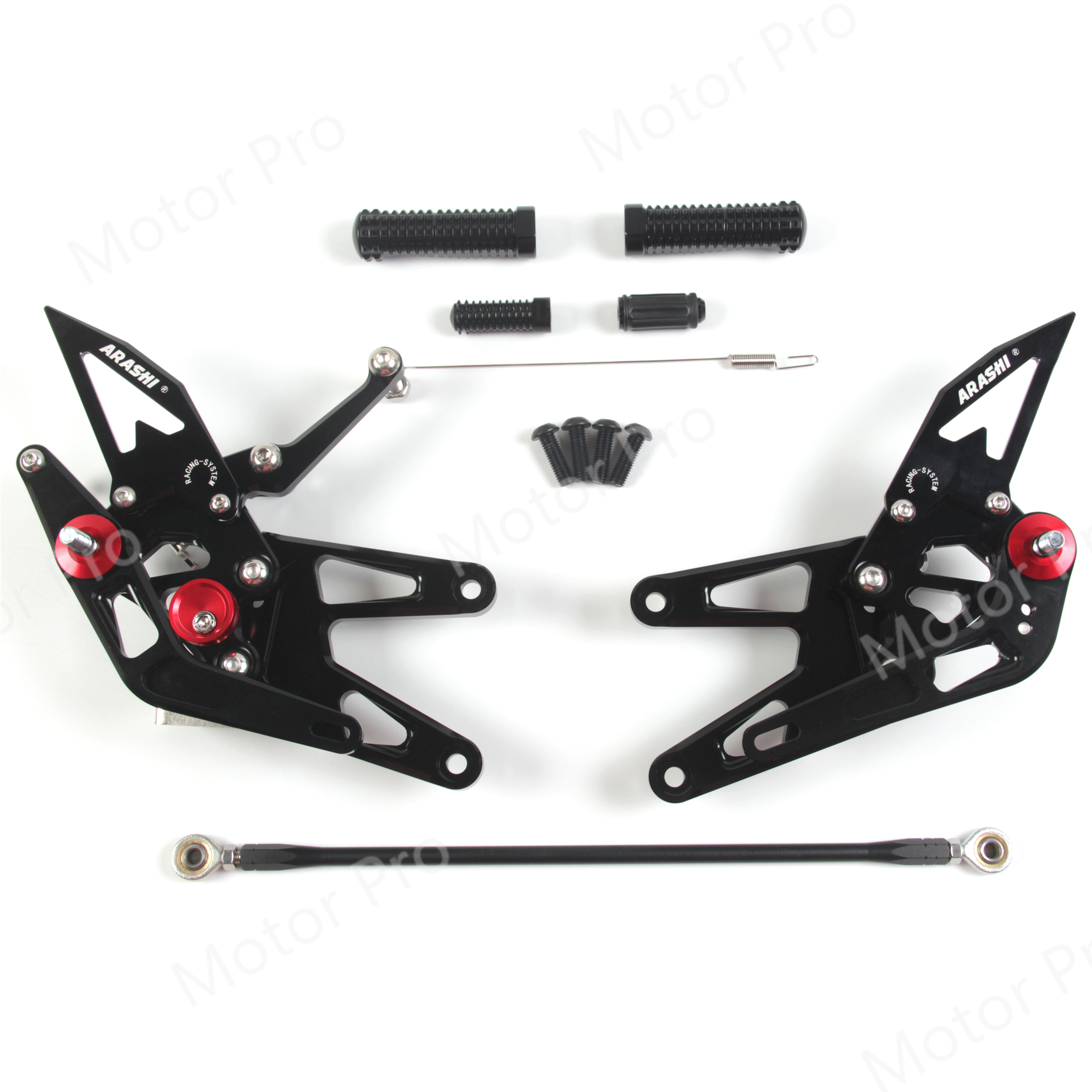 Adjustable Footrests For Yamaha YZF R6 2003 2004 2005 Motorcycle Accessories Foot Rests Pegs Rearset Rear