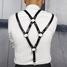 Leather Harness Belt Men Bdsm Bondage Pastel Goth Stocking Wedding Garter Ceinture Homme Intimo Donna Sexy Suspenders Pole dance