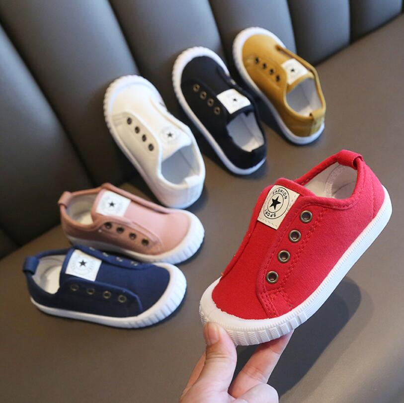 Spring Autumn New Children Canvas Shoes Girls Sneakers Breathable Fashion Kids Shoes For Boys Casual Sport Shoes Student Shoes