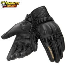 Neue Motorrad Handschuhe Guantes Moto Motocross Echtem Leder Handschuhe Touchscreen Moto Volle Finger Handschuhe Schutz Getriebe Schwarz