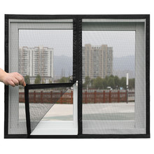 Customizable zipper anti-mosquito netting mosquito nets for encrypted windows Removable Velcro self-adhesive mosquito nets doors