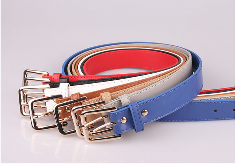 2020 Ladies Belt Simple Wild Tide Decoration Japanese Word Pin Buckle Casual Korean Belt Fashion Pu Leather Belt