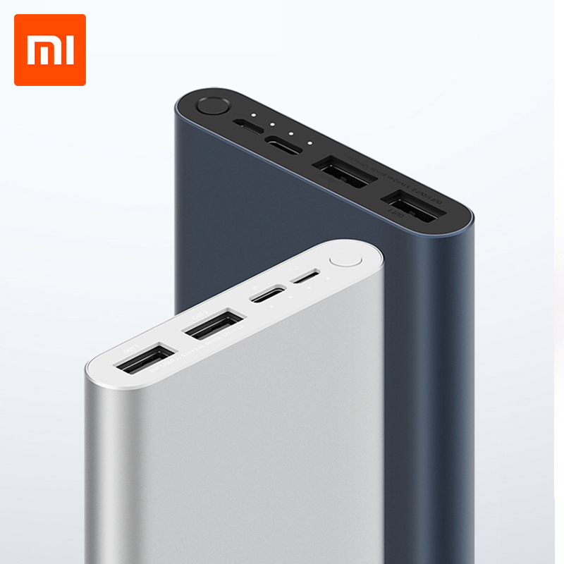 10000 Mah Xiao Mi Mi Power Bank 3 Externe Batterij Bank 18W Quick Charge Powerbank 10000 Met Usb Type C Voor Mobiele Telefoon title=