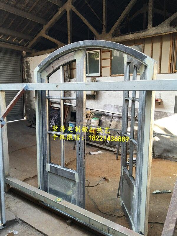 Kustom 72 X96 Pintu Besi Tempa Pintu Depan Iron Entry Door Iron