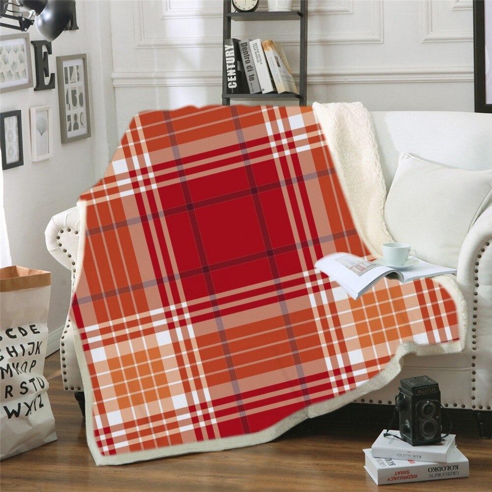 Геометрический дизайн, одеяло с капюшоном, 3d принт, цветное клетчатое шерстяное одеяло для взрослых, зимнее портативное теплое одеяло