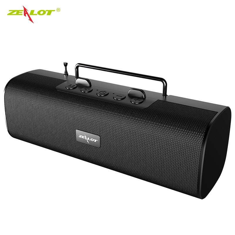 Zélot S40 sans fil Bluetooth haut-parleurs FM radio extérieure TWS colonne haut-parleur meilleure basse 66 pieds Bluetooth gamme intégré micro