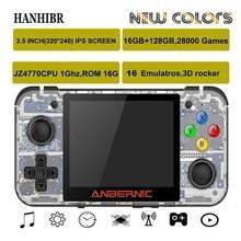 ANBERNIC RG350 ips Ретро игры 350 видео игры обновление игровой консоли ps1 игры 64 бит opendingux 3,5 дюймов 28000+ игры rg350