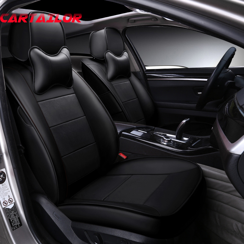 CARTAILOR Black Cowhide Leather Car <font><b>Seat</b></font> <font><b>Cover</b></font> Protector for <font><b>lexus</b></font> nx200t nx200 <font><b>nx300h</b></font> Custom Fit <font><b>Seat</b></font> <font><b>Covers</b></font> Cars Accessories image