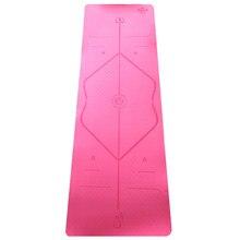 Монохромный TPE коврик для йоги 6 м экологически чистый безвкусный противоскользящий для спорта и фитнеса