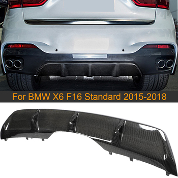 Car Rear Diffuser Lip Spoiler For BMW X6 F16 Standard 2015 2016 2017 2018 Car Rear Bumper Diffuser Lip Spoiler Carbon Fiber image