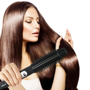 Ceramic Hair Curler & Hair Straightener Professional Ceramic Ionic Fast Heating 3 Grade Thermostatic LCD Display image