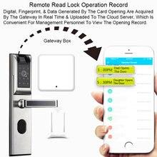 Электронный дверной замок wi fi отпечатков пальцев интеллектуальное