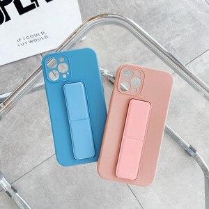 Image 4 - Coque de téléphone en Silicone liquide avec dragées, couleur bonbon, pour iPhone 12 Pro Mini 11 Pro Max X XR XS Max 7 8 Plus SE 2020