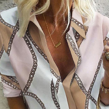 Chain Print Blouse and Shirt Women Long Sleeve Vintage Shirt Womens Tops and Blouse for Women Plus Size Top 5XL Spring 2020 6