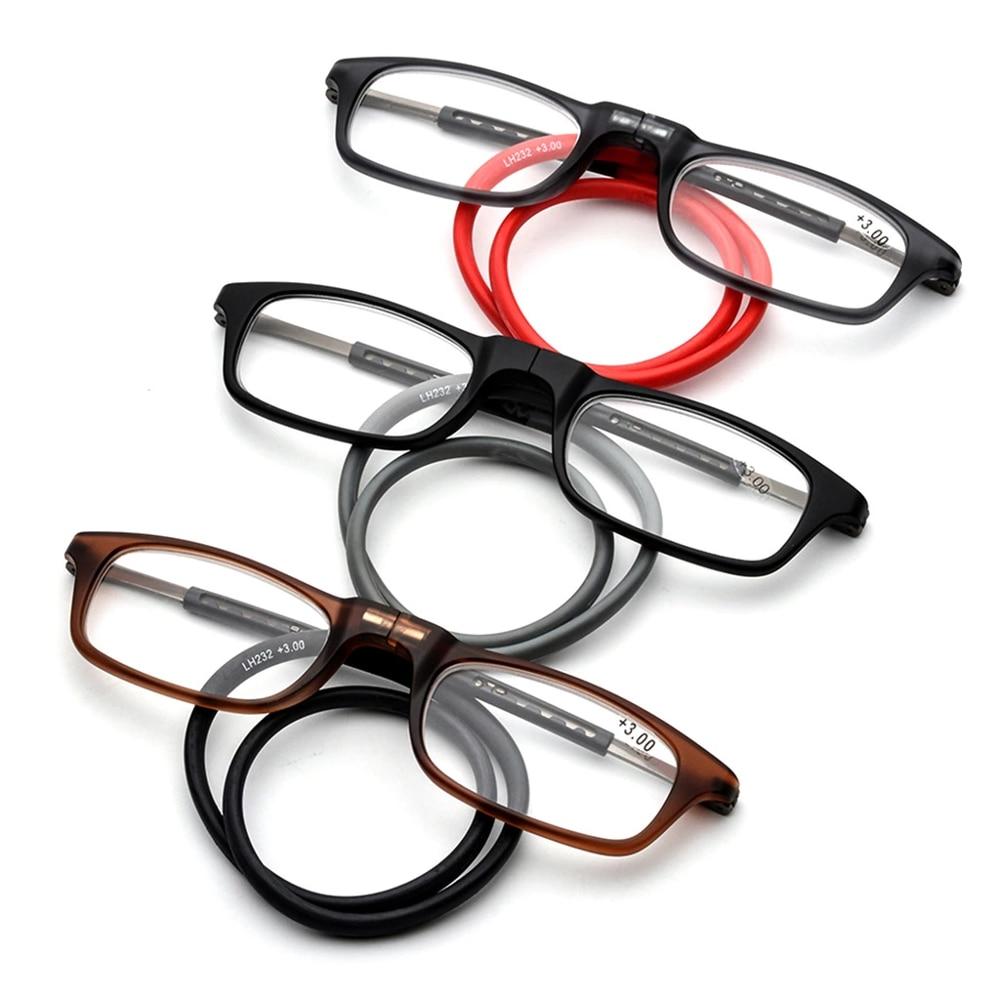 Магнитные очки для чтения с регулируемой горловиной Магнитные очки для чтения супер светильник TR90 прочный и прочный