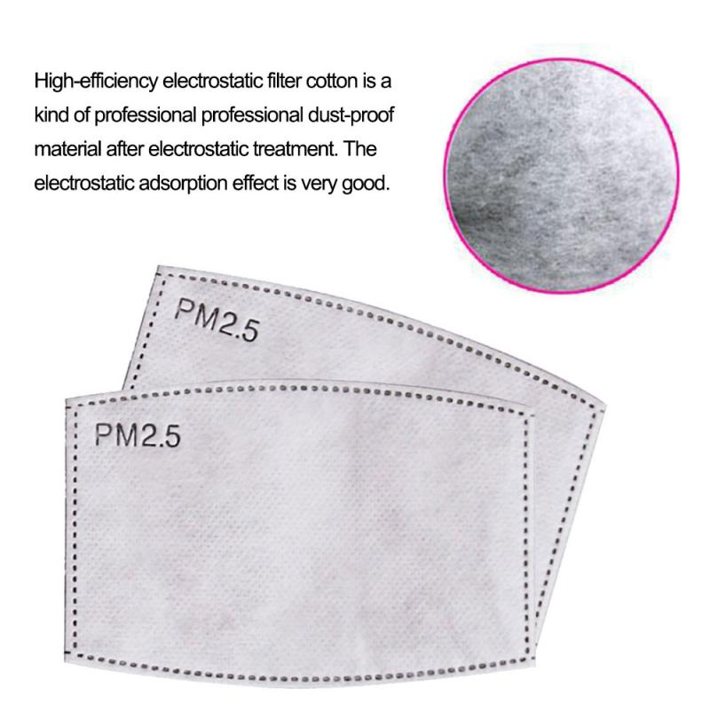 10/50pcs Kids Filter Paper Face Mask Mouth Face Mask Unisex Mouth-muffle Respirator Stop Air Pollution Anti-Dust Protection Mask
