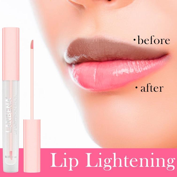 LANBENA Lip Lightening Serum Lip Plumper Liquid Lip Gloss Reduce Pigmentation Moisturizing Pink Lips Long Lasting Smooth Beauty