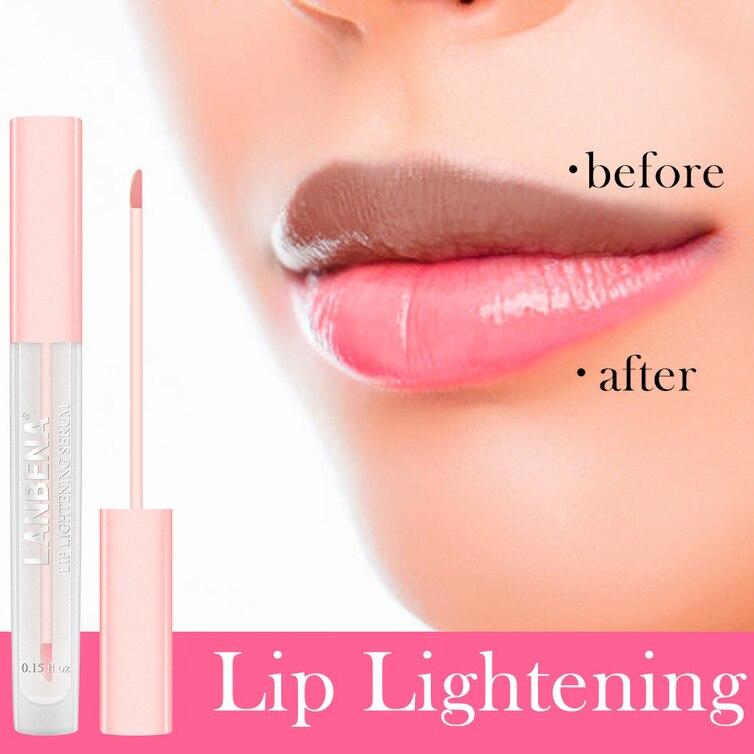 Отбеливающая Сыворотка для губ, жидкий блеск для губ, снижение пигментации, увлажнение, розовые губы, стойкая, гладкая красота