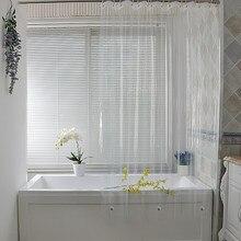 Rideau de douche en plastique blanc, Transparent, imperméable, pour salle de bain, moisissure, PEVA, luxe, avec crochets