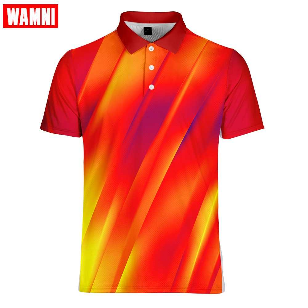 WAMNI ماركة الموضة الأعمال عادية ثلاثية الأبعاد قميص كمال الاجسام رجل الرياضة فضفاض Occiden Harajuku-قميص شهم اكسسوارات