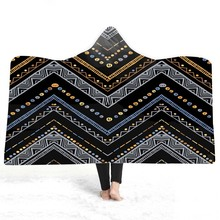 3D Printed Hooded  Blanket For Adults Childs Sherpa Fleece Blanket For Bed Wearable Warm Throw Blanket For Home Travel Picnic plaid magic hooded blanket for home travel picnic 3d printed sherpa fleece blanket wearable warm throw blanket for adults childs