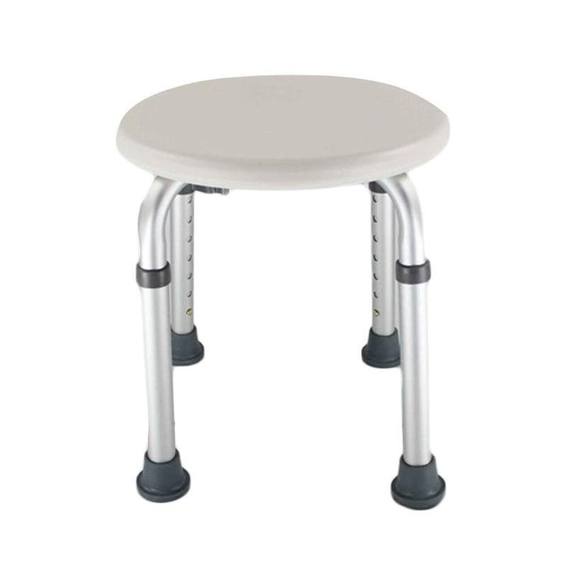 Adjustable Aluminum Alloy Elderly Bathroom Chair Stools Bath Shower Stools Chairs Anti Slip Toilet Chair Pregnant Shower Seat