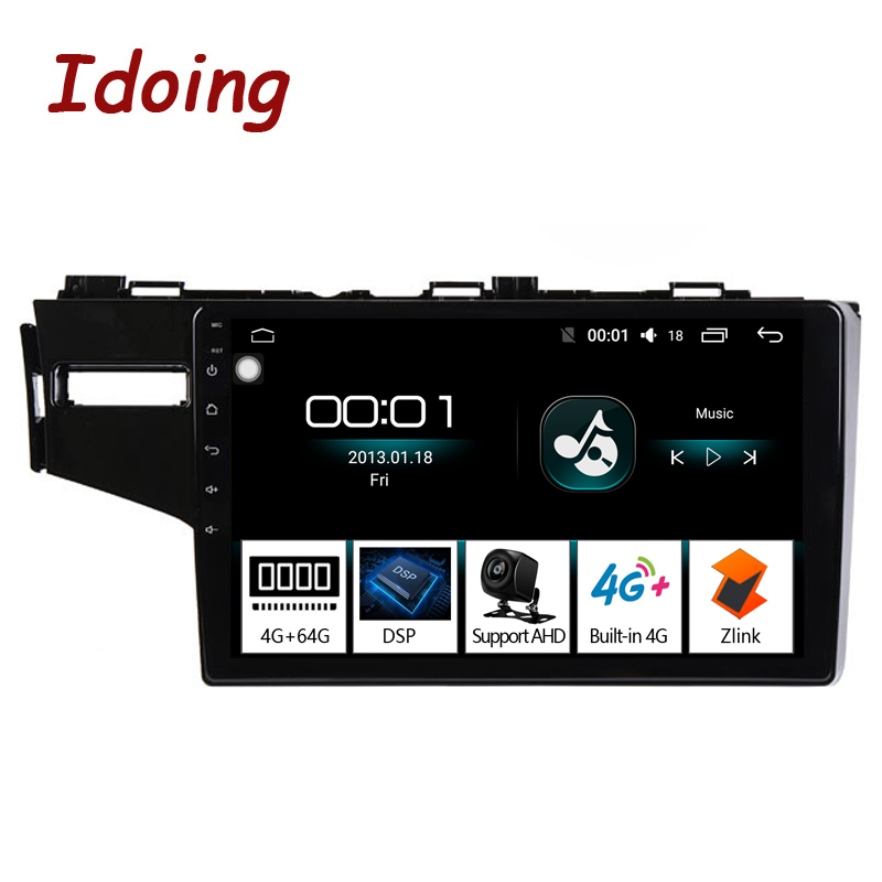 """Idoing 9""""4G+64G Octa Core Car Android 8.1 Radio Multimedia Player For Honda Fit Jazz 2014 GPS Navigation 2.5D IPS no 2 din dvd-in Car Multimedia Player from Automobiles & Motorcycles    1"""