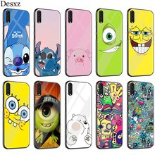 Cute Cover Case Glass For Huawei P30 P10 P20 P Smart Mate 20 Pro Lite Y6 Y9 Honor 7A 8X 9 10 Cover(China)