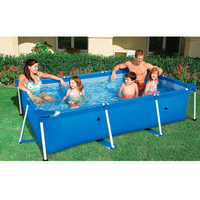 4 Size Swimming Pool Family Kids Children Adult Play Water PVC Portable Play Pool Play Pool Filter Large Size Outdoor Fun