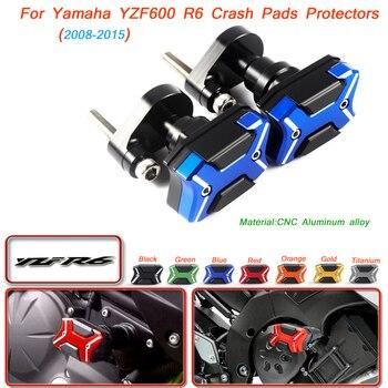 CUBIERTA PARA MOTOR deslizante de marco de cueva de motocicleta, almohadillas de tope, protectores de Escape para Yamaha YZF600 R6 2008 2009 2010 2011 2012 2013-2016