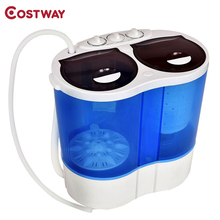 COSTWAY 8 lbs Portable Mini Compact Twin Tub Washing Machine Washer Spinner EP24122