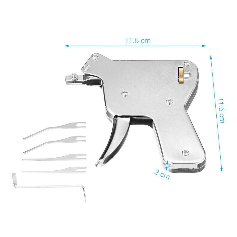 Verrous à broches à Double piste, outil de réparation de clé, verrous à disque, outil de déverrouillage pratique et pratique, acier inoxydable, 6 pièces