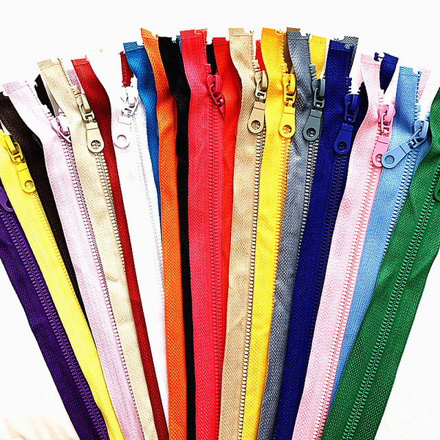 2-5 pieces, 5#25-70 cm detachable resin zipper opening opening automatic ecological locking plastic zipper for sewing suit