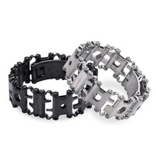 цены 29 in 1 Multifunctional Tread Bracelet Stainless Steel Outdoor Bolt Driver Kits Travel Friendly Wearable Multitool Hand Tools