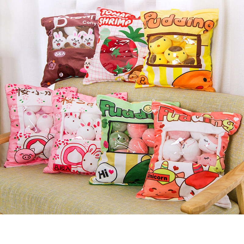 Ins A Large Bag Of Net Red Snack Pillow Creative Cartoon Cushion Bunny Unicorn Pig Plush Toy Child Doll Doll Cute Girl Heart Bir
