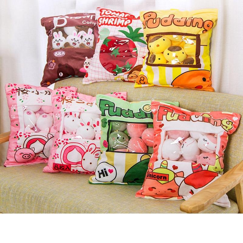 Ins A Large Bag Of Net Red Snack Pillow Creative Cartoon Cushion Bunny Unicorn Pig Plush Toy Child Doll Doll Cute Girl Heart Bir