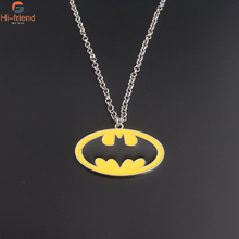 New Arrival Enamel Batman Necklace Hot Movie Superhero Jewelry Collares for Women and Men High Quality Metal Kolye