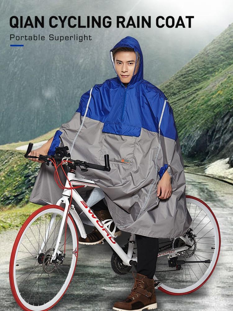 QIAN Travel Backpack Poncho Rain-Cover Cycling Reflective-Design Impermeable Hiking Women/men